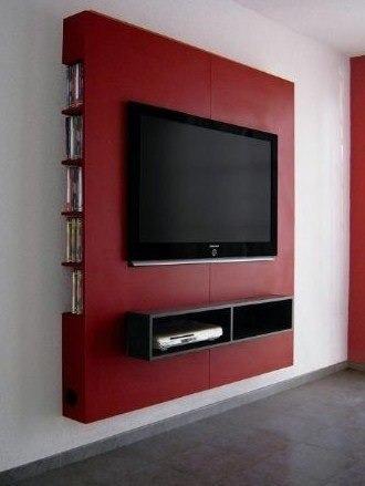 rack para tv,  panel de pared. soporte hasta 50 pulgadas