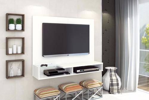 rack para tv panel led estela hasta 55 pulg blanco o castaño