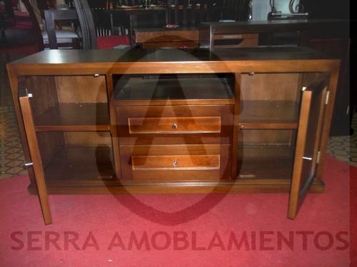 rack - rackspara tv  en eucaliptus- comedor-living- modular-