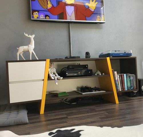 rack tv de diseño minimalista cajonera 50x160x40 - a medida