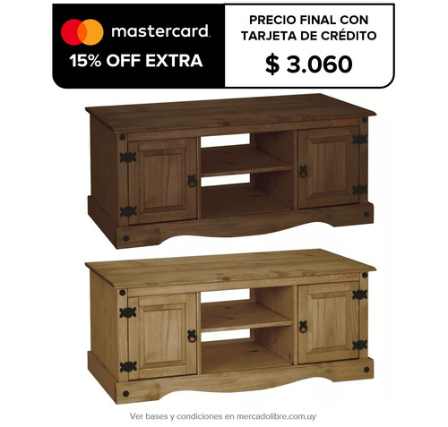 rack tv - lcd - led - living - comedor - madera - mueble lcm