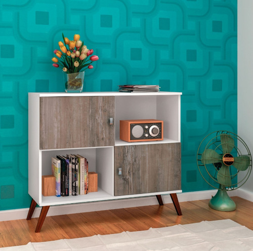 rack tv linea retro mesa living comedor 2 puertas rt3011