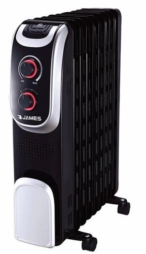 radiador de aceite james 7 elementos negro 1500w maxi-hogar