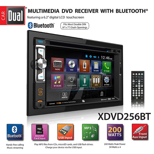 radio digital multimedia 6.2 led dual xdvd256bt  #oca