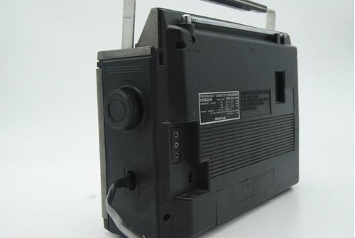 radio grabador hitachi  antiguo vintage funcionando viejo