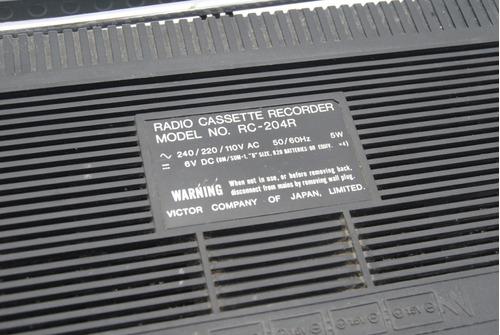 radio grabador jvc antigua vintage funcionando