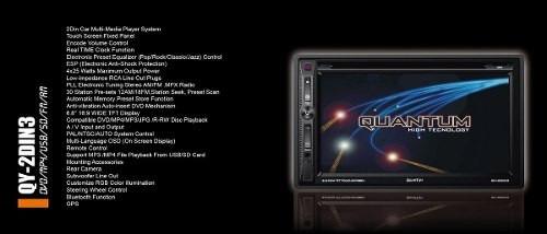 radio multimedia quantum doble din táctil gps bt touch