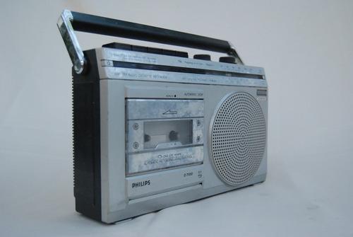 radio philips d7100 antigua vintage funciona am fm