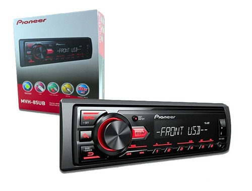 radio pioneer desmontable mvh-85ub usb mp3 aux! sorteo tv 50