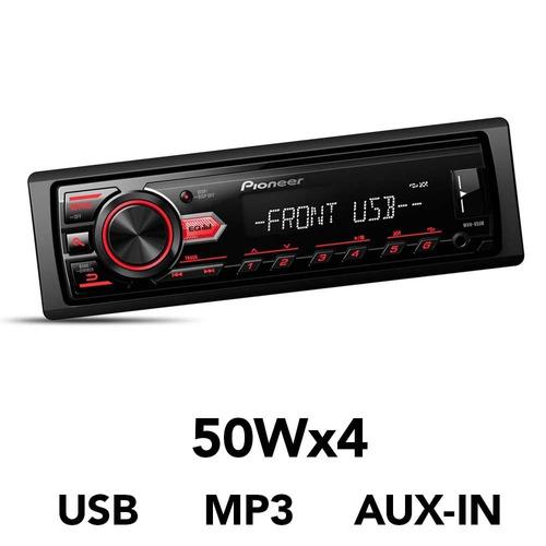 radio pioneer mvh 85ub + parlantes 1634 #oca