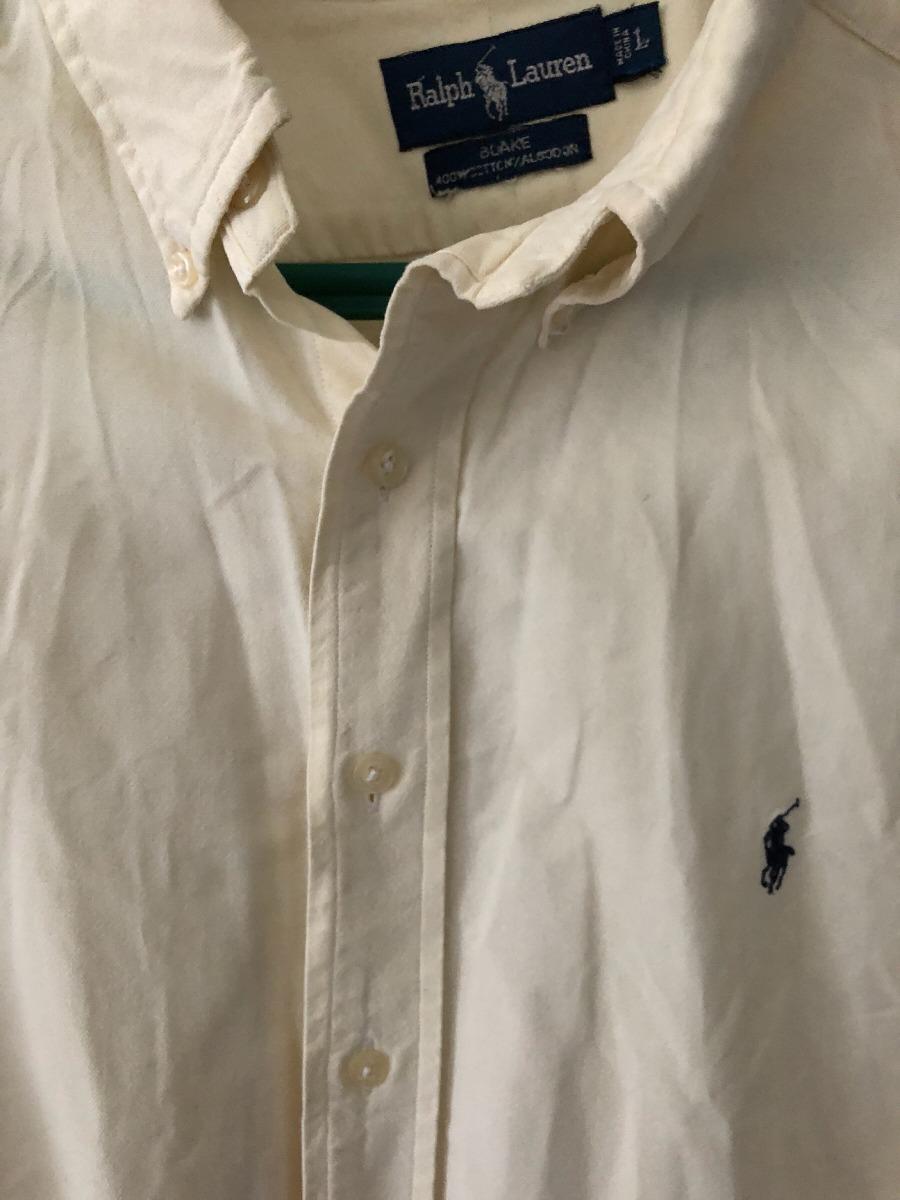 7d6263d90e6d0 Camisa Polo Ralph Lauren Original Talle L Color Crema . -   950