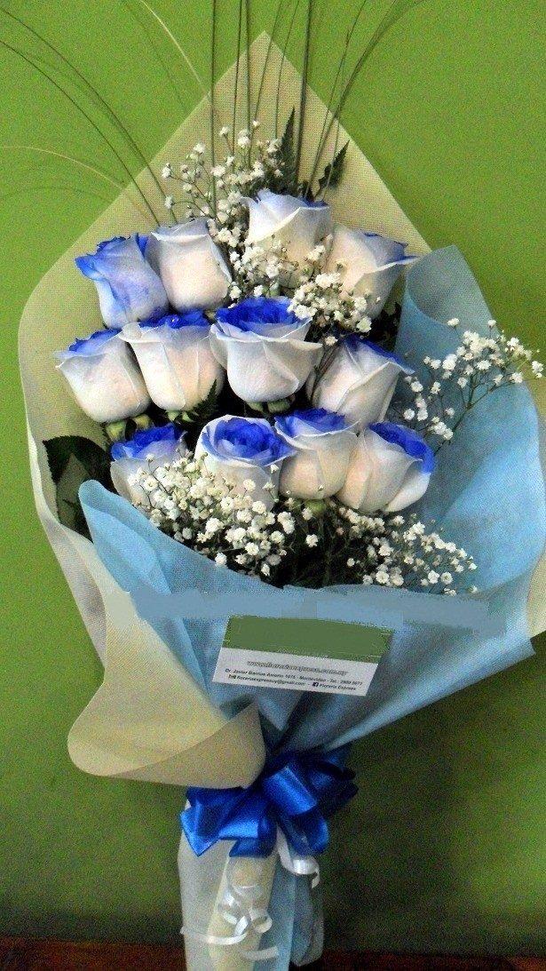 Ramo De 12 Rosas Azules Envio Gratis Floreria Fotos Reales 1 200