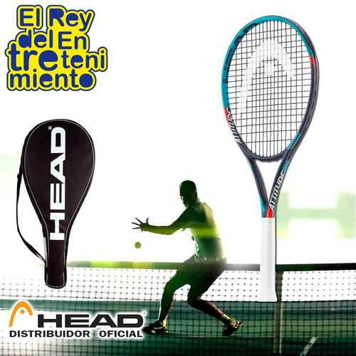 raqueta head attitude tour grafito tennis + estuche - el rey