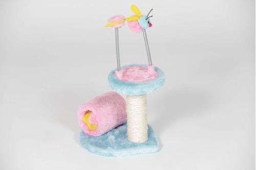 rascador gato de colores con antenas
