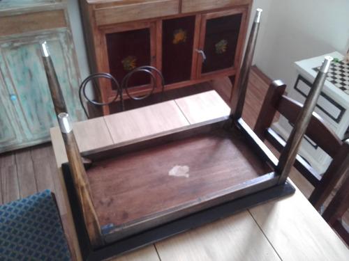 ratona madera mesa living