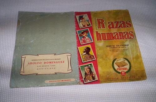 razas humanas album de figuritas editorial bruguera.1956.
