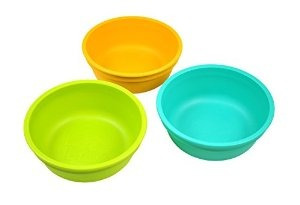 re-play bowls verde agua cielo amarillo 3-count