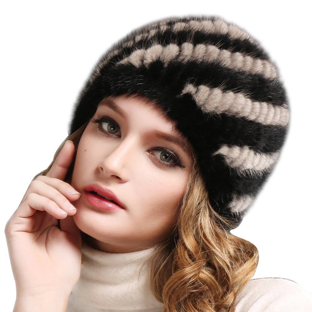 Real Mink Fur Sombrero De Invierno Para Mujer Niñas Gorro - U S 72 ... 31c7b79d1ee