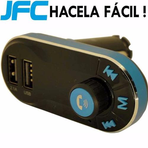 receptor audio bluetooth usb manos libres auto parlantes mic