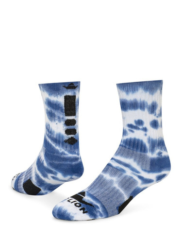 red lion max tie dye athletic calcetines, azul rey, s