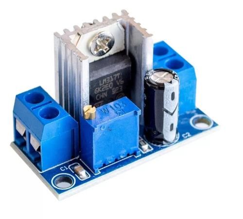 reductor regulador lm317 1.5a 4.5- 40v a 1.2v - 37v  arduino