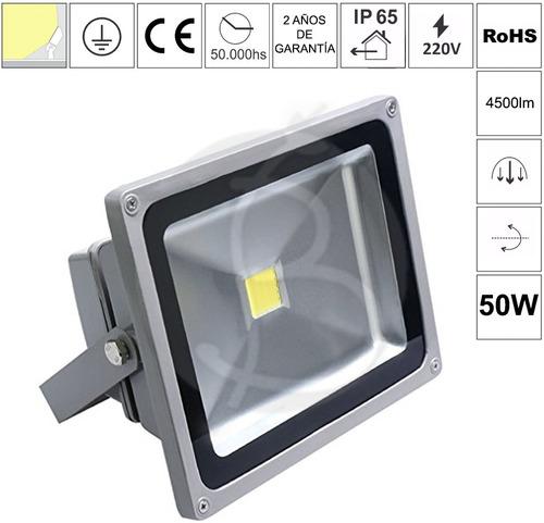 reflector led 50w garantia 3 meses ahorro 80% eficiencia a