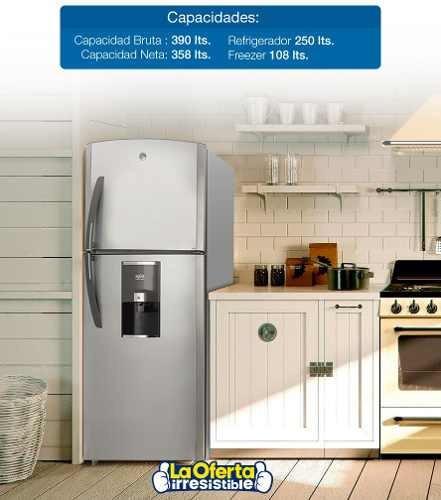 refrigerador ge 390l 2 puertas freezer sup frío seco loi