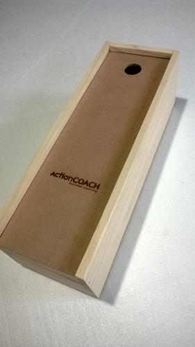 regalo empresarial - caja para vino en madera