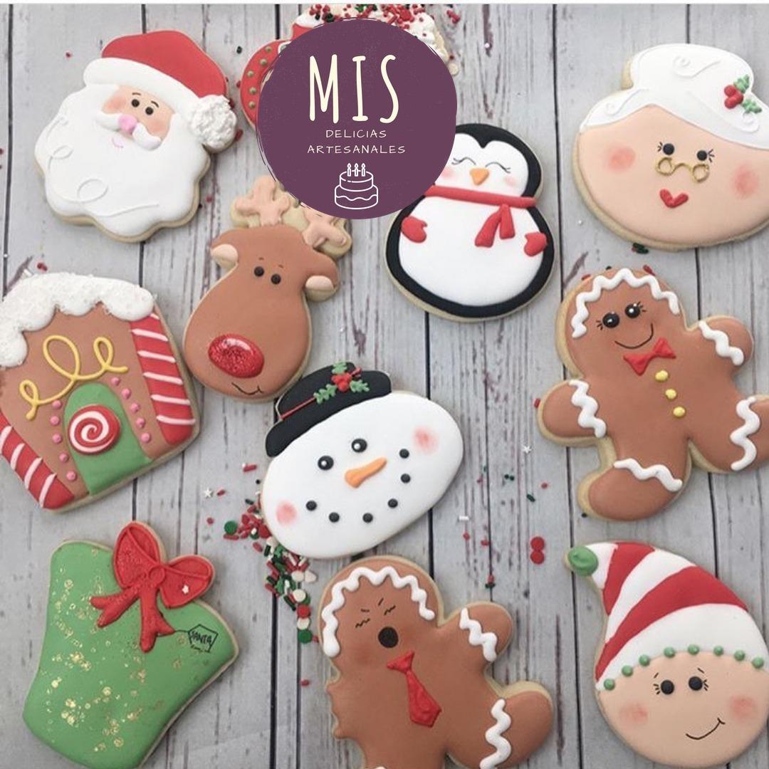 Regalo Navidad Caja De Galletas Decoradas Papa Noel