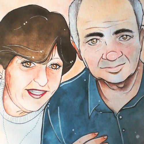 regalo original retrato personalizado hecho a mano 18 pagos