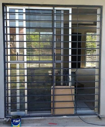 reja para ventana 1,0 x 1,0 mts varillas de 14 mm con garras