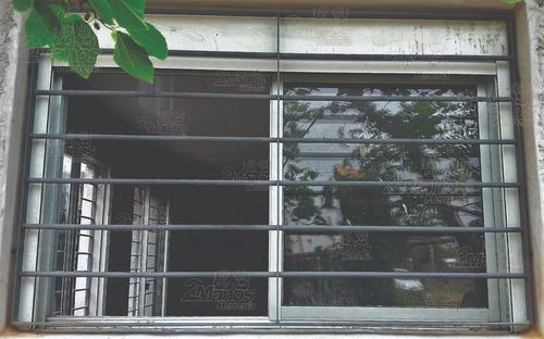reja para ventana 100 x 100 cm varillas de 12 mm con garras