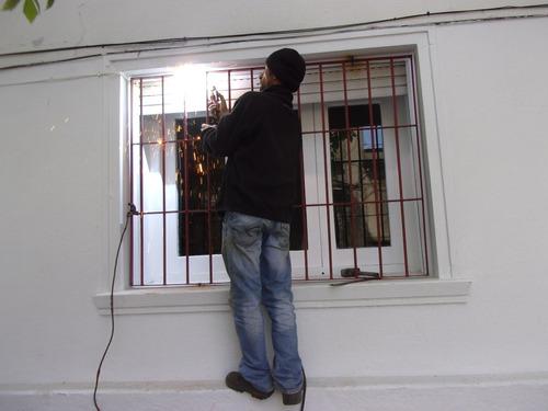 reja para ventana de 120 x 1 metro en redondo 14