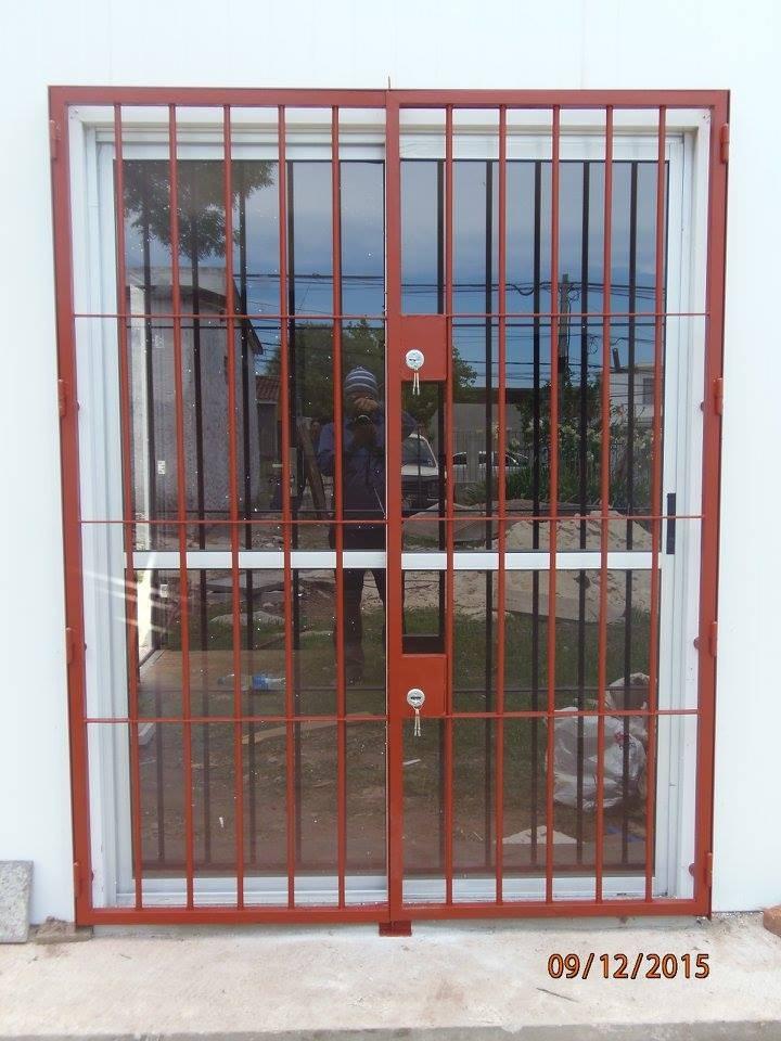 Rejas puertas portones herreria aluminio mamparas y for Aberturas de aluminio puerta ventana