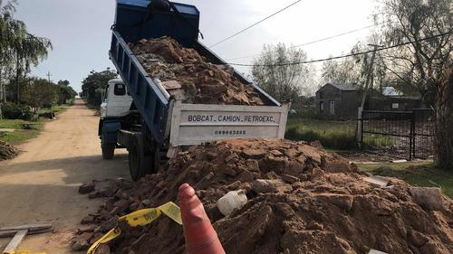 rellenos (escombro,balastro,arena,tierra etc)