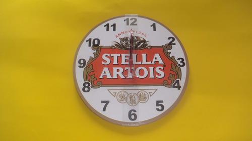 relogio de parede cerveja stella artois na caixa