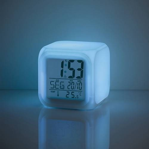 relógio luz noturna color fun multikids baby - bb165