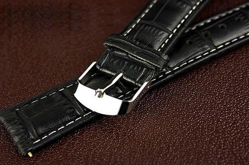 relógio masculino luxo pulseira couro pu social