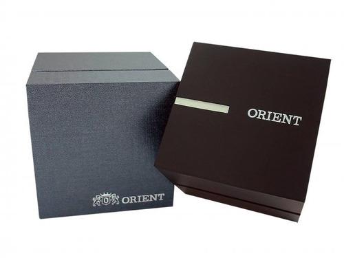 relógio orient feminino pulseira couro rose lrscm001 orig.