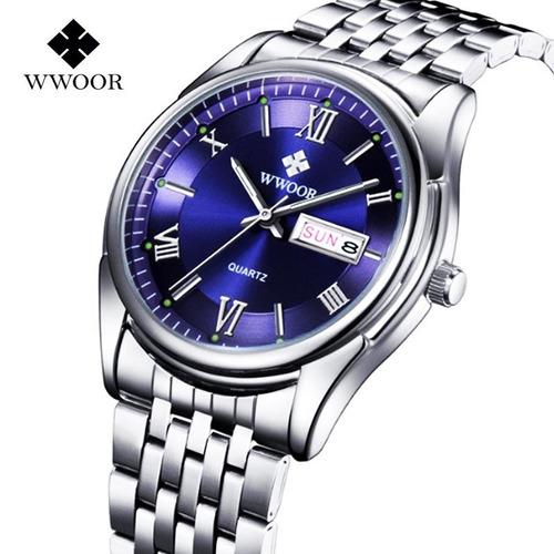 relógio wwoor modelo 8802 masculino quartzo pronta entrega