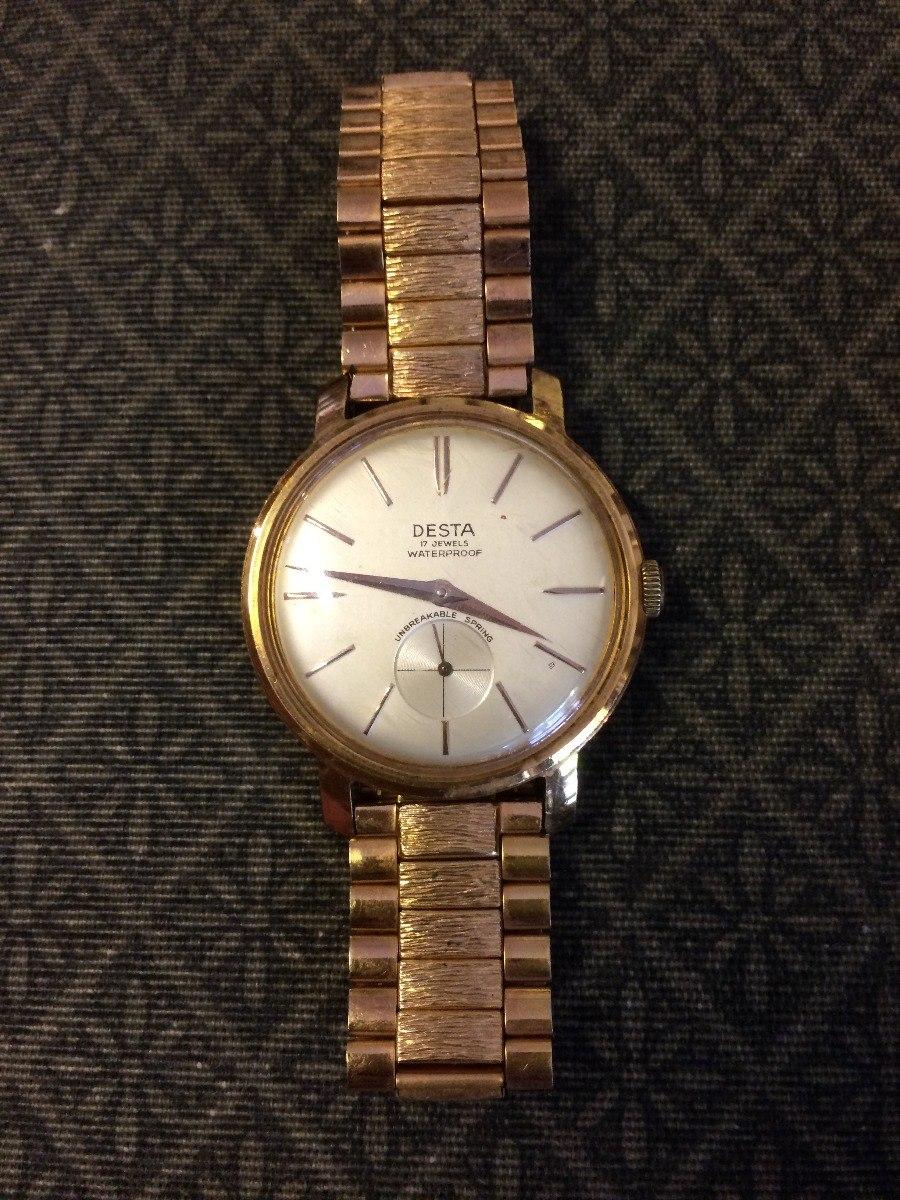 Reloj Antiguo A Cuerda Desta Enchapado En Oro Us 18000 En