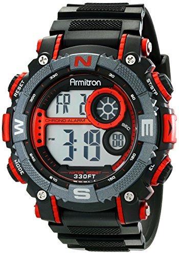 reloj armitron sport mens 40/8284red large metallic