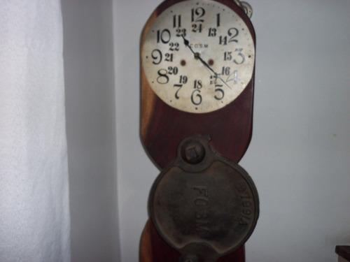 reloj artistico bloque de quebracho labrado,logo ferroviario