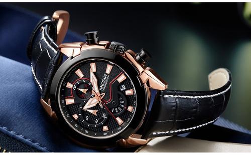 reloj calendario megir modelo 2065 ryn - original