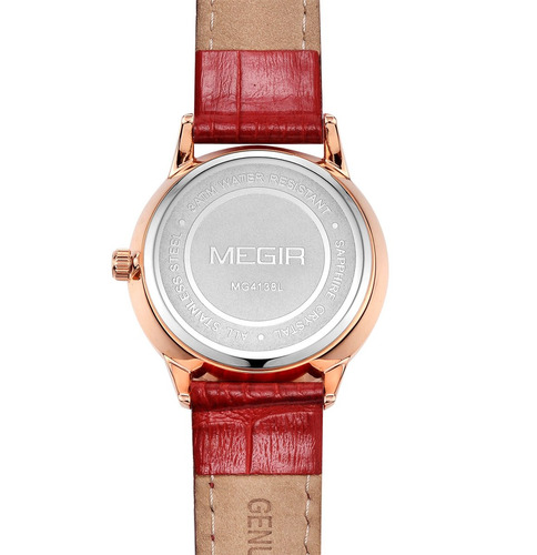reloj calendario megir  modelo 4138gxrl - original