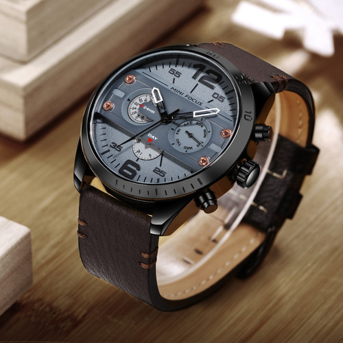 reloj calendario mini focus mf068 bgm - original