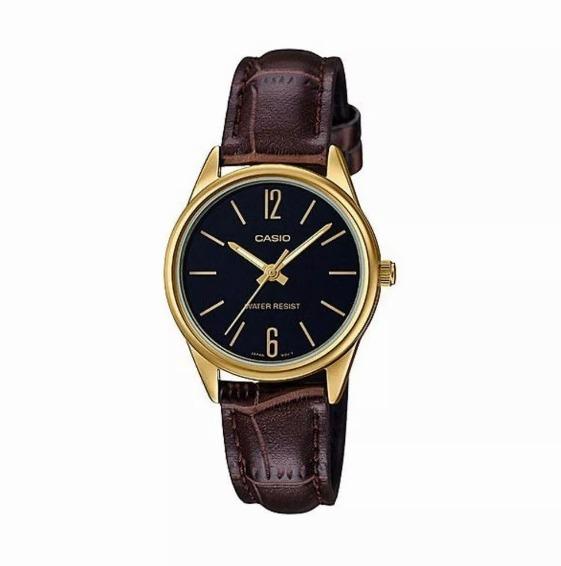 cb1c1a6c985b Reloj Casio Dorado Pulsera Cuero Marron M Ltp-v005gl-1budf -   3.200 ...