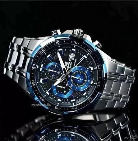 c2774cbeeef1 Reloj Casio Edifice Ef 539 - Negro Y Azul - Original -   5.000