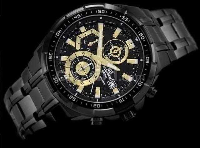 1def642f4d48 Reloj Casio Edifice Ef 539 - Negro Y Dorado - Original -   5.000