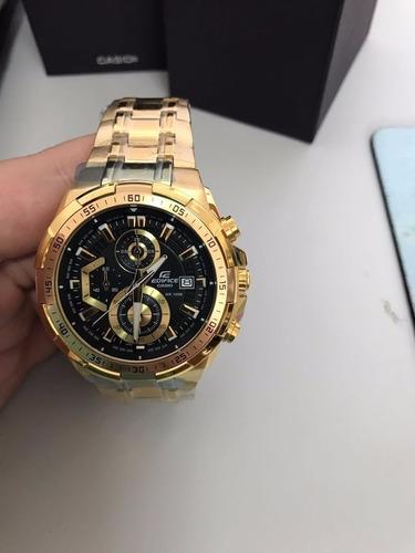 reloj casio masculino edifice ef-539 dorado